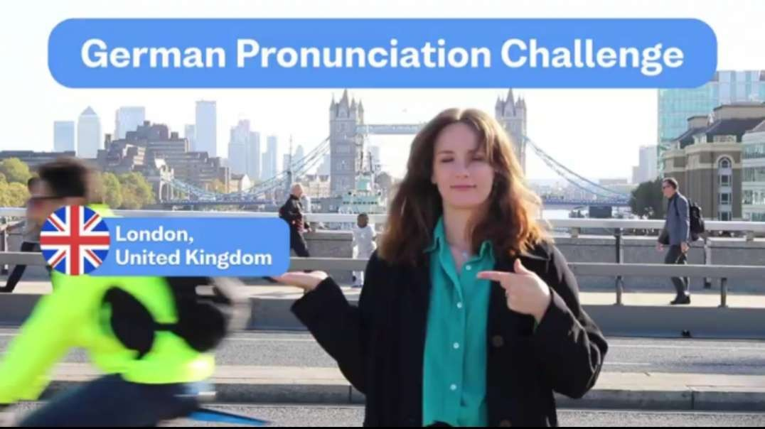 English speakers VS. German pronunciation