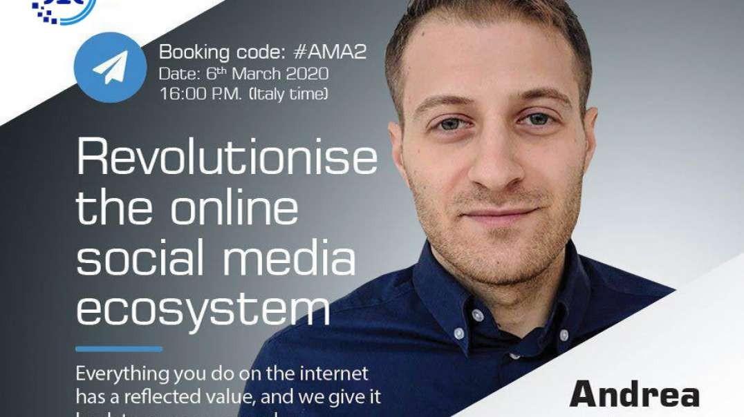 AMAseries #AMA 1 with ReflexToken CEO Andrea De Cicco